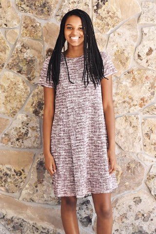 Knit Tweed Dress