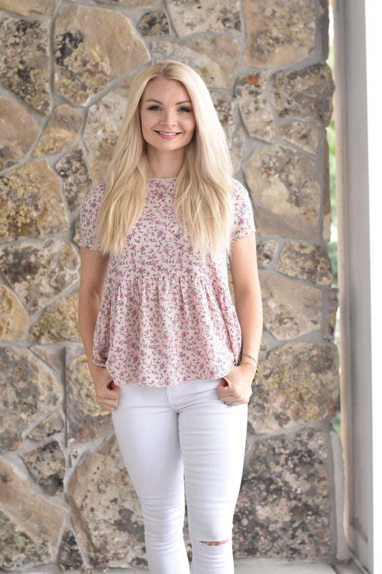 The Floral Peplum Top