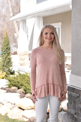 The Blushing Ruffle Top