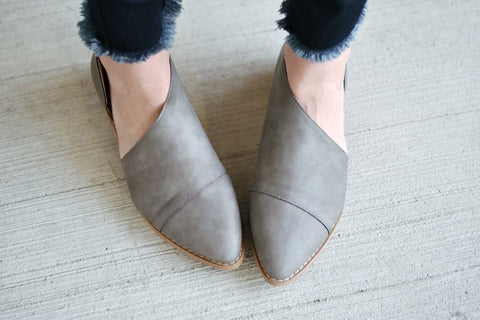 Freya Booties in Gray