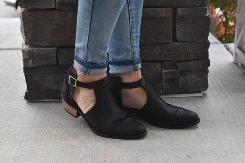 Black Stitch Booties