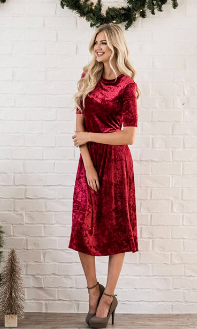 db2df7f86e5 Red Velvet Dress – Salt City Clothing