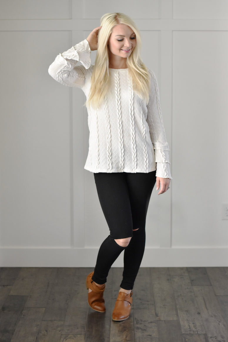 Ivory Bell Sweater Top
