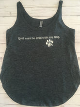 I Just Want To Chill With My Dog | Scoop Neck Tank