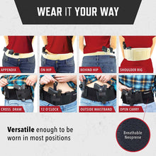 Ultimate Belly Band Holster - Deep Concealment Edition - Black