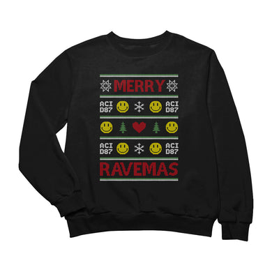 Merry Ravemas III Ugly Christmas Sweater