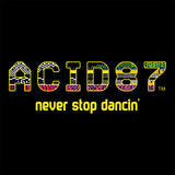 Acid87 Never Stop Dancin Yellow Glitch Logo Unisex Organic T-Shirt