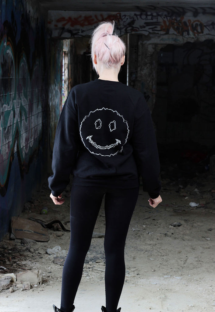 Sound Wave Smiley Jumper (Black)