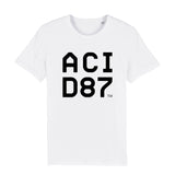 Acid87 Black Boxed Logo Unisex Organic T-Shirt