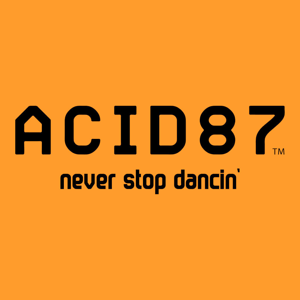 Acid87 Never Stop Dancing Black Logo Unisex Hooded Sweatshirt