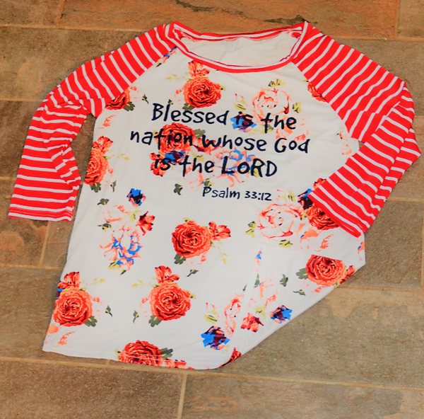 Blessed is the Nation - Women's Shirt