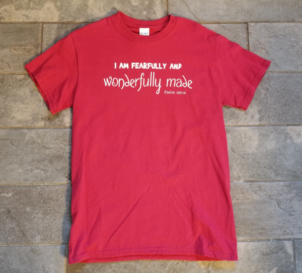 Fearfully and Wonderfully Made - Red Tee