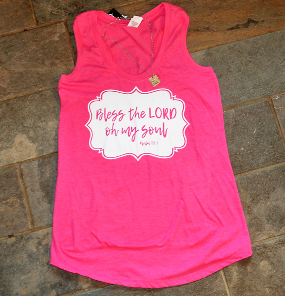Bless the LORD Oh my Soul - Women's Tee (Blue, Pink OR Purple)