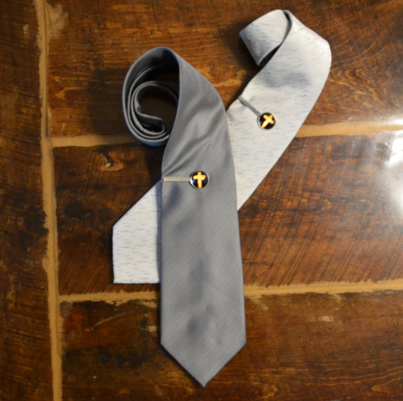 Men's Tie Clip - Fire Cross