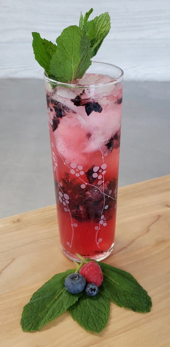 Maple Blueberry Vodka Spritzer