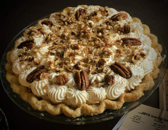 Maple Cream Pie with Pecans