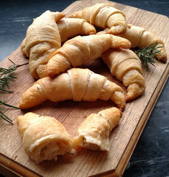 Rosemary Maple Cream Crescent Rolls