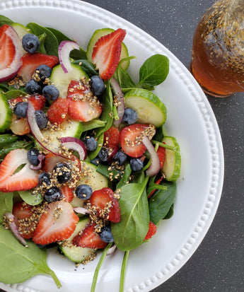 Summer Berry Salad with Maple Vinaigrette