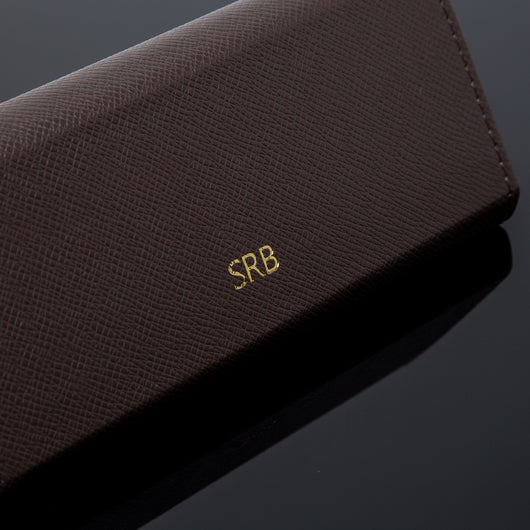 Monogrammed Leather Case