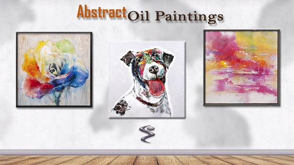 Abstract Oil Paintings Will Open Conversations Between Guests