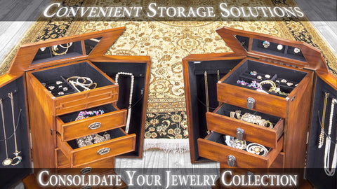Tall Jewelry Armoire