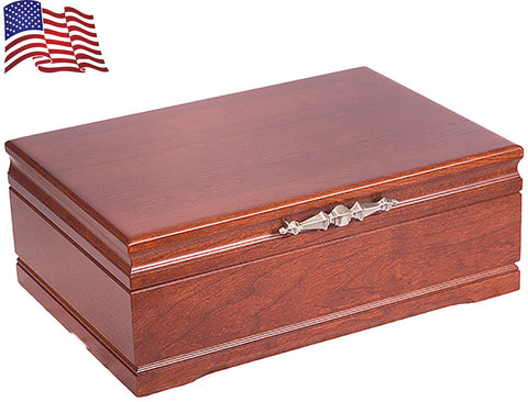 Cherry Jewelry Box is perfectly hancrafted to hold memories in a jewelry collection.