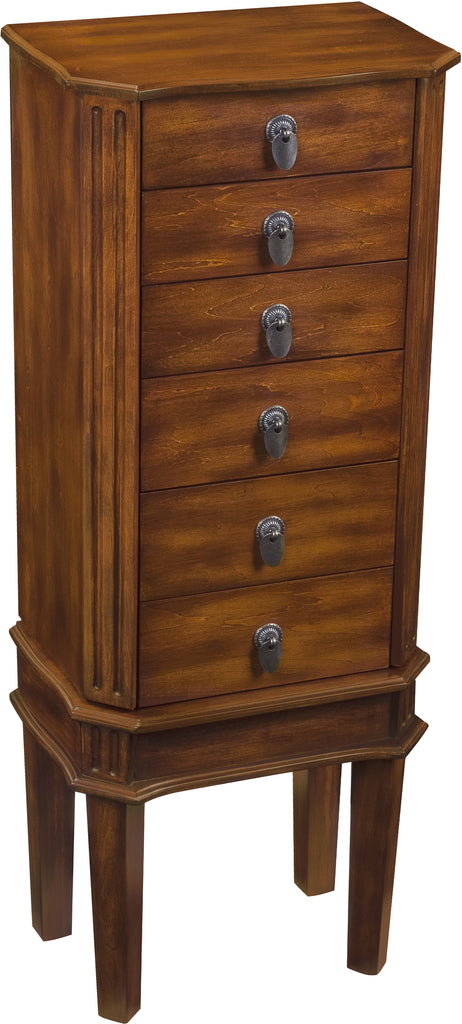 Free Standing Jewelry Armoire will safekeep memories in a jewelry collections.