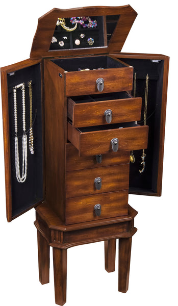 Free Standing Jewelry Armoire will organize several pieces of jewelry.