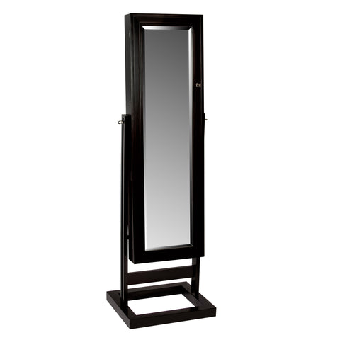 Jewelry Armoire Mirror will reflect class and elegance in a jewelry collection.