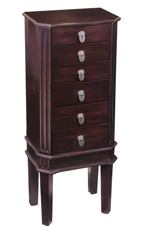 Floor Jewelry Armoire will protect memories of a jewelry collection.