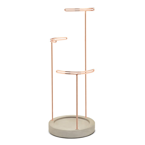 Jewelry Stand Organizer has three tiers to display jewelry.