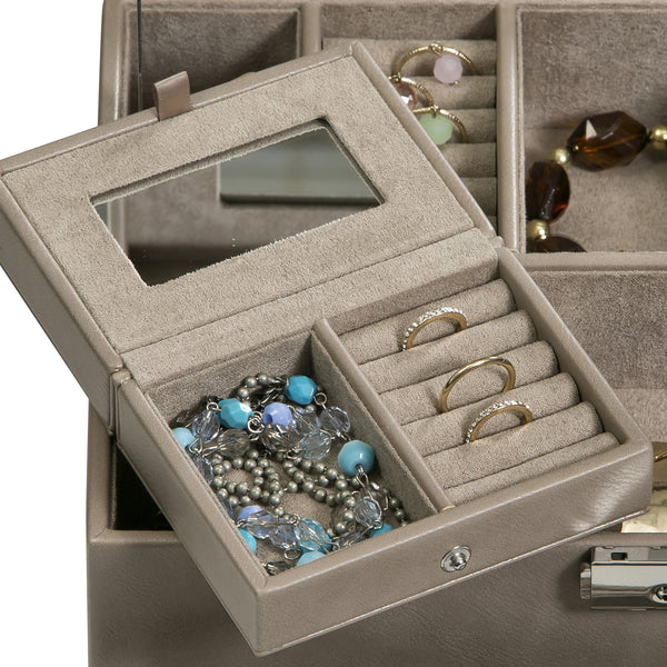 Leather Jewelry Case is greatly versatile and highly functional to handle any size jewelry piece.