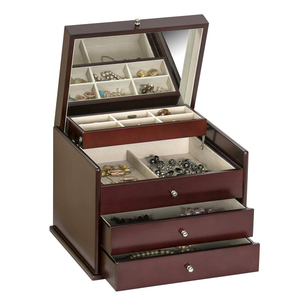 Mahogany Jewelry Box will keep hidden memories in special jewelry from being lost.