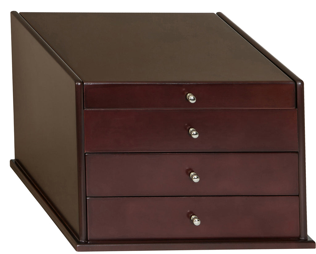 Mahogany Jewelry Box has charm and grace to perfectly complement jewelry pieces.