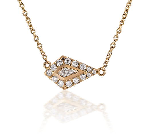 Diamond Kite Halo Necklace