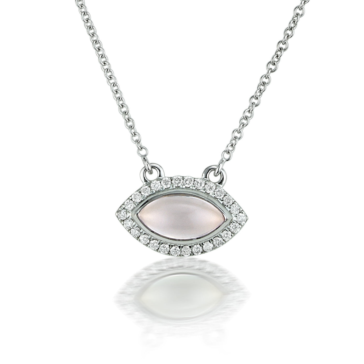 pendant necklace kaz diamond products quartz theresa halo jewelry rose ace marquise
