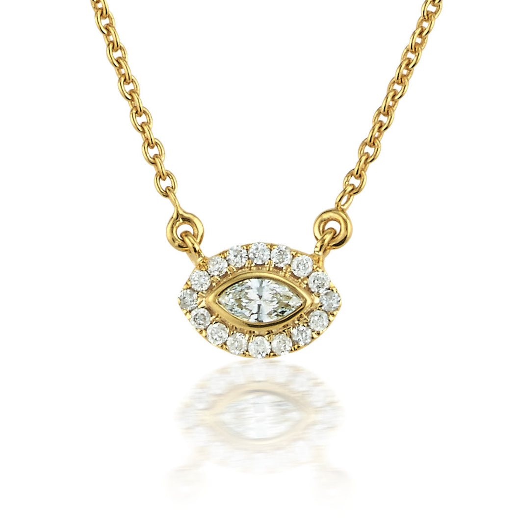 marquise gold diamond in pendant with white product reuven necklace gitter halo