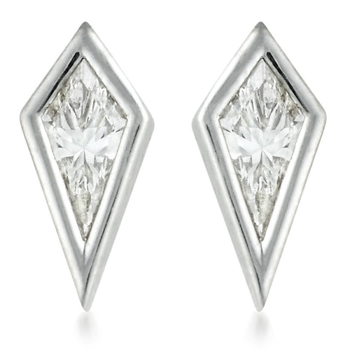 Diamond Kite Stud Earrings