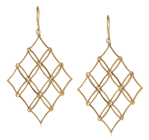 North Star Diamond Chandelier Earrings
