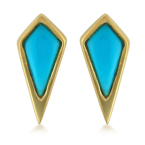 Turquoise Kite Stud Earrings