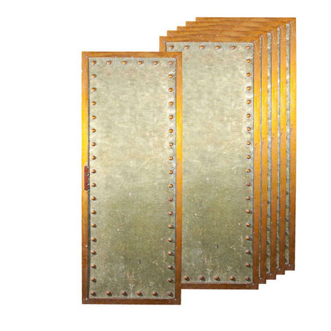 Five Studded Metal Panels