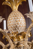 Italian Carved Wood Pineapple Chandelier