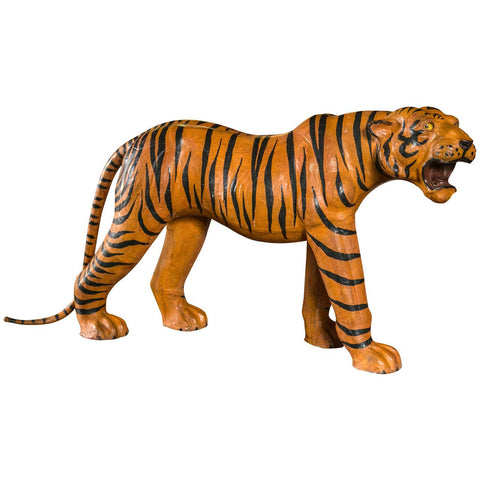 Leather Tiger Sculpture