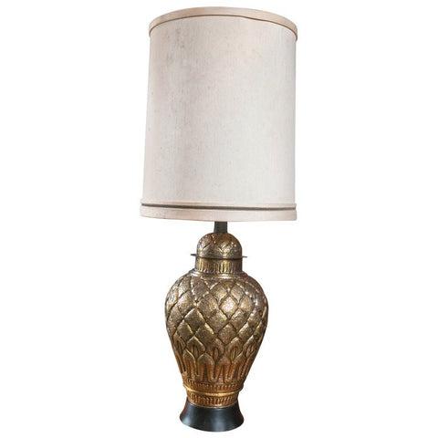 Oversized Brass Ginger Jar Lamp