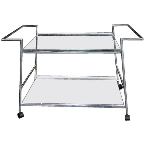 Lucite and Chrome Bar Cart