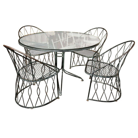 Salterini Round Table and Chairs, United States 1950s