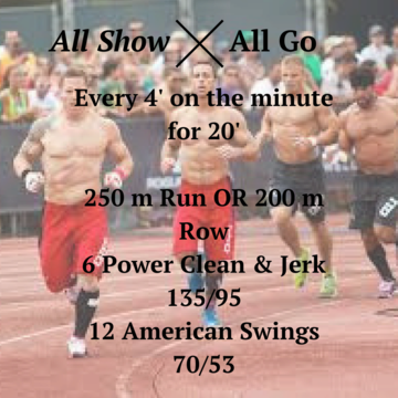 """Workout of the day: All Show, All Go"""
