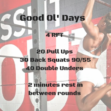 Workout of the day: Good Ol' Days