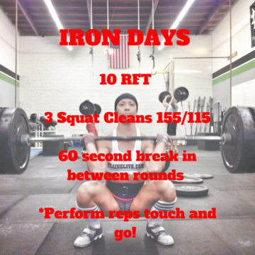 Workout of the Day: Iron Days