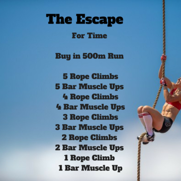 Workout of the day: The Escape
